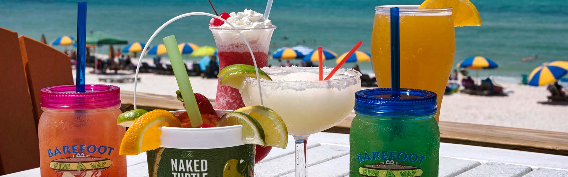 Ice cold drinks on the beach