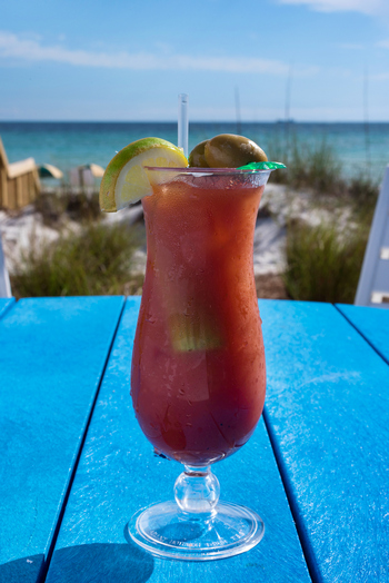 bloody mary on the beach