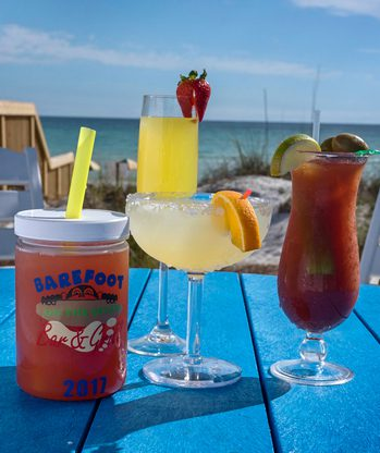 signature drinks on the beach